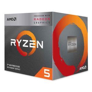 CPU デスクトップパソコン用 AMD Ryzen 5 3400G with Wraith Spire Cooler BOX AMD YD3400C5FHBOX|konan