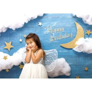 イエスタ Happy Birthday ナイトスカイ フォトポスター インスタ ポスター 壁紙 背景 記念 写真 撮影 クリアストーン CSSET-05|konan