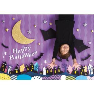 イエスタ Halloween 逆さコウモリ フォトポスター インスタ ポスター 壁紙 背景 記念 写真 撮影 クリアストーン CSSET-15|konan