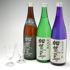 金沢の地酒 加賀鳶 特撰三種セット グラス付き|konchikitai