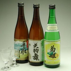 石川県の地酒 人気蔵晩酌酒三種セットグラス付き|konchikitai