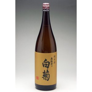 奥能登の手造りの地酒蔵白藤酒造店 白菊 特別純米 1800ml|konchikitai