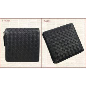 財布 メンズ財布 レザー最高級本革 手作り 編み込み|konigsweg|04