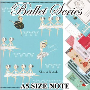 バレエ ノート ballet A5 size notebook ジゼル 白鳥の湖 眠れる森の美女 コッペリア くるみ割り人形