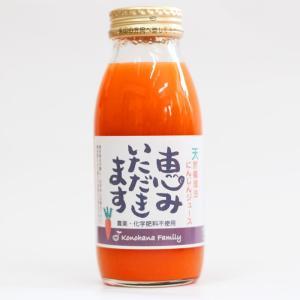 国産 天然循環法 にんじんジュース 恵みいただきます 200ml×12本入り 農薬化学肥料不使用 konohanafamily