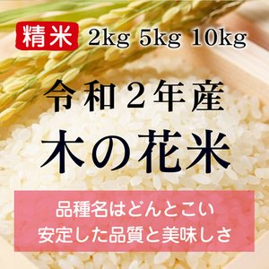 令和2年産 木の花米 精米(農薬・化学肥料不使用)※内容量を選択してください konohanafamily