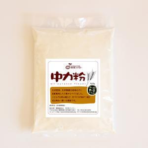 国産小麦粉 中力粉500g/5kg/10kg/20kg(農薬・化学肥料不使用)※内容量を選択してください|konohanafamily