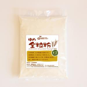 国産小麦粉 中力全粒粉 500g(農薬・化学肥料不使用)|konohanafamily