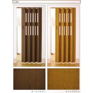 パネルドア (窓付 アコーディオンドア) クレア 既製サイズ 幅99cm×174cm 4色から|konpo|02