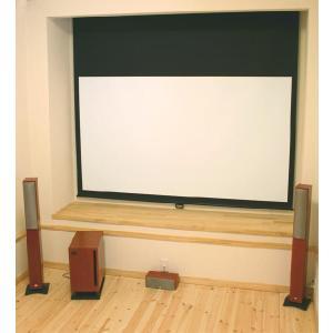 【個人宅配送不可(注1)】プロジェクター スクリーン ホームシアターに最適 80インチ NTSC 既製サイズ ブラックマスク konpo