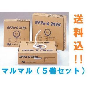 マルマル ミナフォーム 5巻セット 1巻1150円 直径8mm×200m 酒井化学工業 白 グレー バックアップ材|konpou