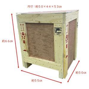 木箱 輸出可 セルフ梱包用 内寸:約50×44×53cm konpou