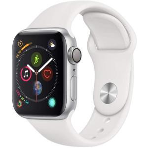 Apple Watch Series 4(GPSモデル) 40mmシルバーアルミニウムケースとホワイ...