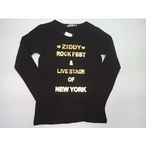 セール ジディー ZIDDY ロゴ箔プリント天竺長袖Tシャツ 長袖 Tシャツ 140 150 160cm|konyankobrando-kids
