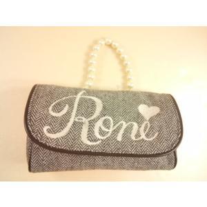 RONI(ロニィ)パールハンドルツィードポーチ/ハンドバッグ/ツィード/ギフト|konyankobrando-kids