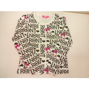 RONI(ロニィ)ロニぴょん総柄pt長袖Tシャツ|konyankobrando-kids