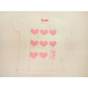ロニィ RONI 天竺ハートプリント半袖Tシャツ 半袖 Tシャツ 125 135 145 155cm|konyankobrando-kids
