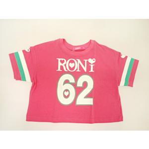 ロニィ RONI 天竺ショート丈ルーズ半袖Tシャツ 半袖 Tシャツ 125 135 145 155cm|konyankobrando-kids