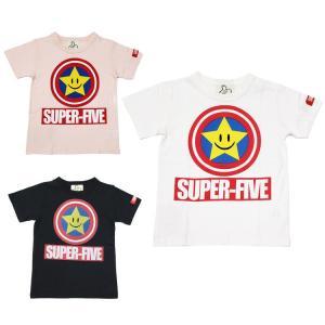 セール スーパーファイブ SUPER5 大人 メンズ 星プリントTシャツ 半袖 160 170 180cm 2019春夏|konyankobrando-kids