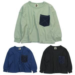 ブライドワーク スーパーファイブ SUPER5 デニムポケットTシャツ 100 110 120 130 140 150cm カーキ ネイビー ブラック|konyankobrando-kids