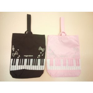 mezzopiano(メゾピアノ)ピアノ鍵盤モチーフシューズケース★メール便OK★ konyankobrando-kids