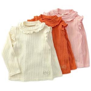 キムラタン Lily ivory リリーアイボリー ハイネックTシャツ 80 90 95 100 110 120 130cm オフホワイト ピンク ベビー キッズ 女の子 2018冬 konyankobrando-kids