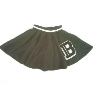 【セール】by LOVEiT(バイラビット)★BIGロゴモチーフポイントのインナーパンツ付き暖かいキルト素材フレアースカート|konyankobrando-kids