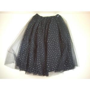 【セール】by LOVEiT(バイラビット)きらきらドット チュール スカート 140cm 150cm 160cm konyankobrando-kids