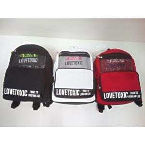 ラブトキシック Lovetoxic ボックスロゴポーチ付きDパック バッグ リュックサック ギフト|konyankobrando-kids