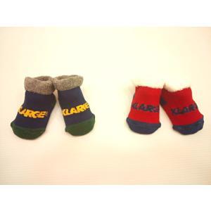 エクストララージキッズ XLARGE KIDS 柔らか素材ブランドロゴ入りソックス 靴下 ラージ 出産祝い ギフト|konyankobrando-kids