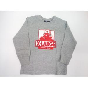 エクストララージキッズ XLARGE KIDS ジュニア キャップをかぶったOGゴリラ長袖Tシャツ 長袖 Tシャツ 80 90 100 110 120 130 140cm|konyankobrando-kids