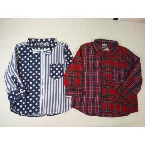 ☆セール☆b−ROOM(ビールーム)★蝶ネクタイ付き2柄タイプのブロードシャツ|konyankobrando-kids