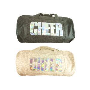【セール】CHEER(チアー)★【キッズダンサーからスポーツジムに通う大人まで!!】 ホログラムロゴのレオパード柄ショルダーボストンバッグ