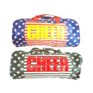 【セール】CHEER(チアー)★【修学旅行】 【ボストンバッグ】 【キッズダンサーからスポーツジムに通う大人まで】  星条旗柄 ボストンバッグ ショルダー付き|konyankobrando-kids