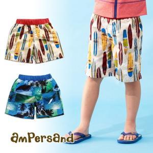 ampersand(アンパサンド)★Boy's2柄転写柄トランクス水着 (80〜140cm) konyankobrando-kids
