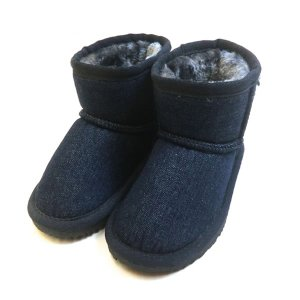 アンパサンド ampersand デニム ショートボアーツ ファー シューズ 靴 13 13.5 14 14.5 15 16 17 18 19 20 21cm|konyankobrando-kids