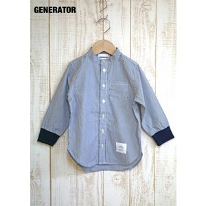 GENERATOR/ジェネレーター 子供服  ノーカラーシャツ 袖リブストライプシャツ 男の子 2018SS|kooka