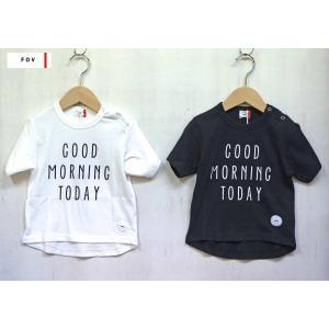 FOV/フォブ  子供服 GOODMORNING S/STシャツ 半袖Tシャツ  男の子 女の子 2018SS|kooka