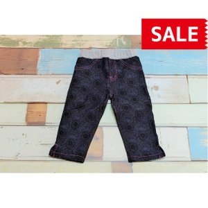 【SALE】Scolar / スカラー 子供服 キッズパンツ 総柄デニム七分丈パンツ 110cm 女の子|kooka