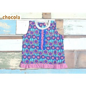 chocola/ショコラ 子供服 タンクチュニック 花柄 80cm 120cm 130cm 女の子 2016SS|kooka