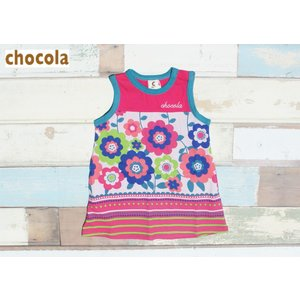chocola/ショコラ 子供服 花柄タンクワンピース女の子 90cm 100cm 110cm 2016SS|kooka