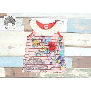 【SALE】【40%OFF】Scolar / スカラー 子供服 タンクワンピース プリントワンピース 100cm  女の子|kooka