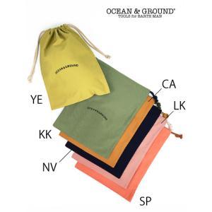 OCEAN & GROUND / オーシャンアンドグラウンド コットン巾着 大 男の子 女の子|kooka