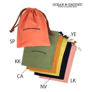OCEAN & GROUND / オーシャンアンドグラウンド コットン巾着 中 男の子 女の子|kooka