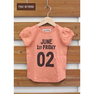 【SALE】PONY GO ROUND / ポニーゴーラウンド 子供服  パプスリーブTシャツ  女の子 2017SS|kooka