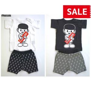 CONVEX / コンベックス  ベビー服 サンダーベビーセット ミュータンプリントTシャツショートパンツセット 80cm 男の子 2018SS|kooka
