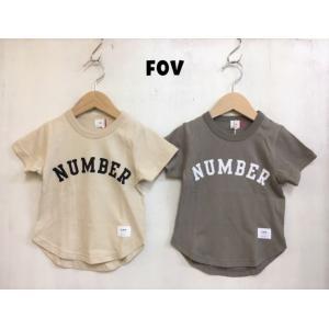 FOV / フォブ  子供服 NUMBER Tシャツ 半袖Tシャツ  男の子 女の子 |kooka