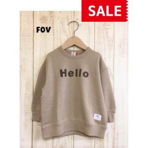 【SALE】【20%OFF】FOV / フォブ  子供服 Hello ビッグトレーナー  男の子 女の子 FW |kooka