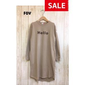 【SALE】【20%OFF】FOV / フォブ  子供服 Hello  ワンピース 女の子 FW|kooka