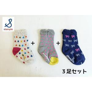 stample / スタンプル 子供 女の子 ベビー クルーソックス 3足組|kooka